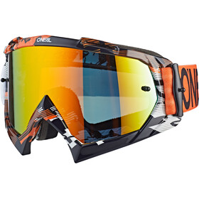 O'Neal B-10 Goggles, pixel orange/white
